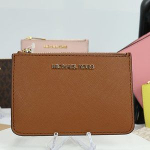 Coin Pouch with ID Holder Saffiano (Luggage)